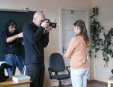 Riga 3.Special school photo team met with the project coordinator Delmi and consultant Ilmars